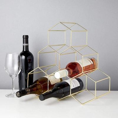 Viski Gold Geo Counter Top Wine Racks