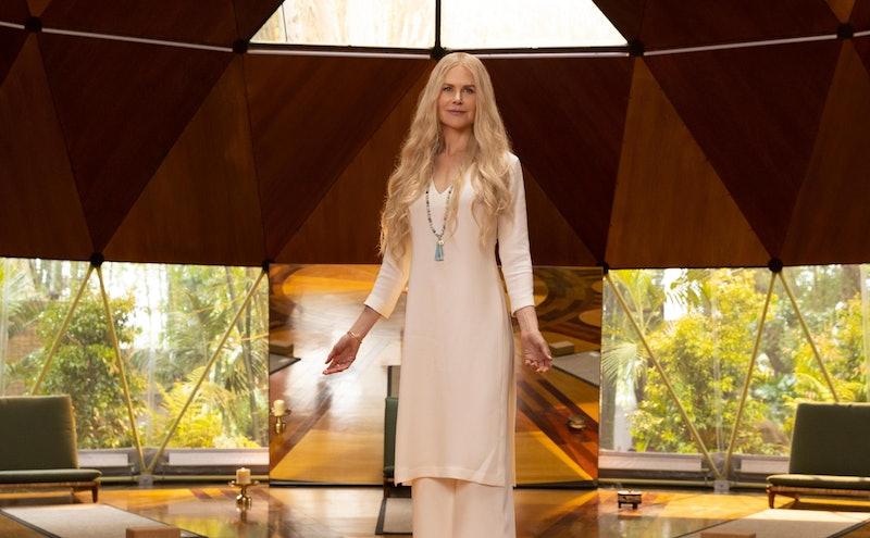 Wellness guru Masha (Nicole Kidman) stands at Tranquillum House on 'Nine Perfect Strangers.'