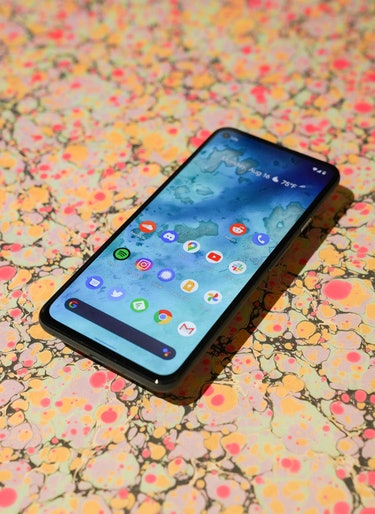 The OLED display on the Pixel 5a with 5G is a smidge larger than on the Pixel 4a with 5G.