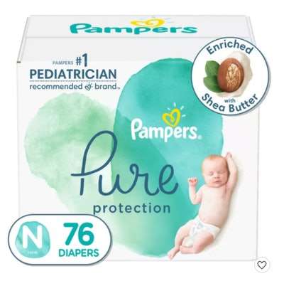 a pack of Pampers Pure Protection diapers