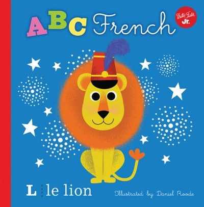 """Cover art for """"ABC French""""; a lion with the letter """"L"""" and """"le lion"""" in the lower left corner"""