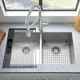Koroda Roll Up Dish Drying Rack Over The Sink