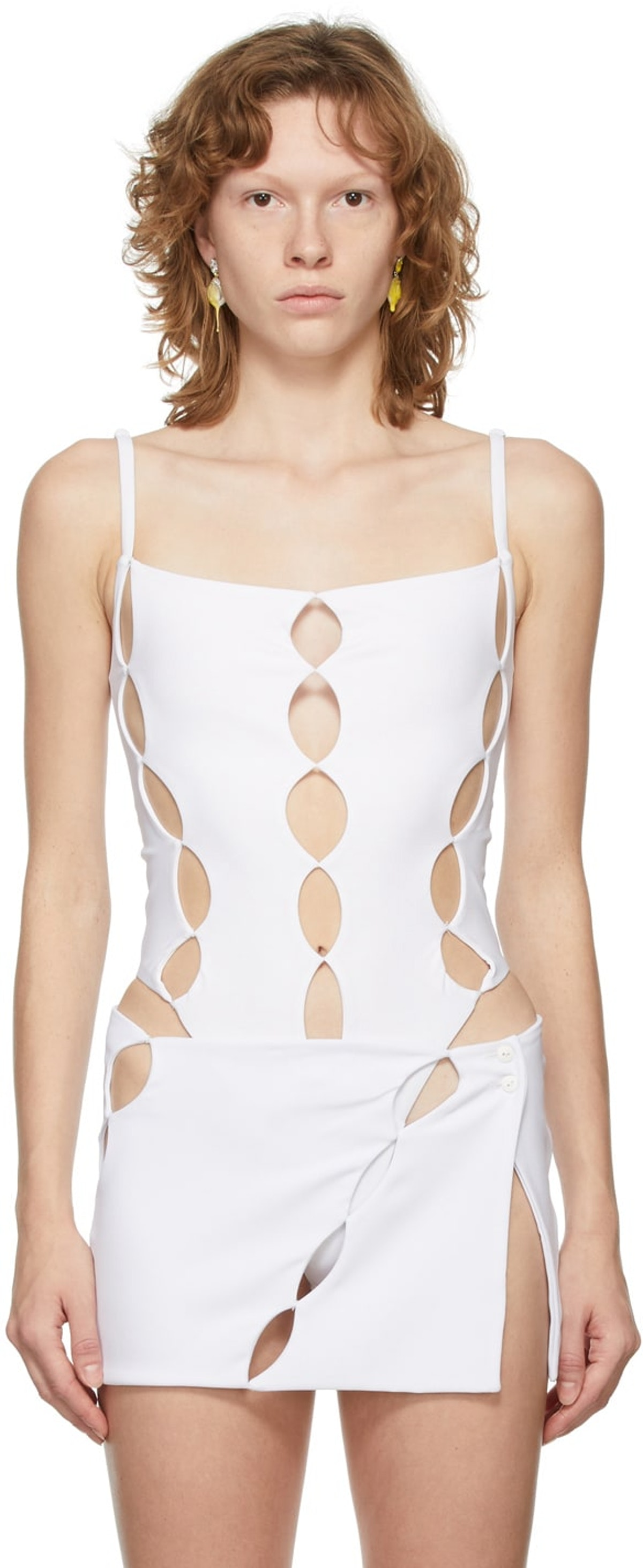 Marshall Columbia White Cut Out Bodysuit