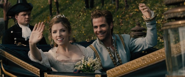 Anna Kendrick and Chris Pine as Cinderella and her Prince.