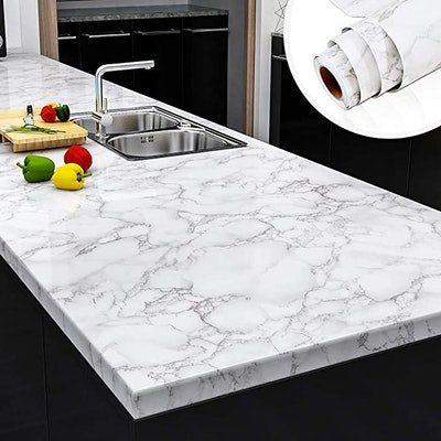 Yenhome Faux Marble Peel and Stick Wallpaper