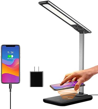 GSBLUNIE LED Wireless Charging Desk lamp