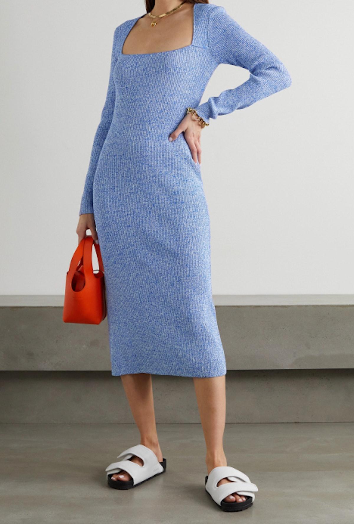 Mélange Midi Dress