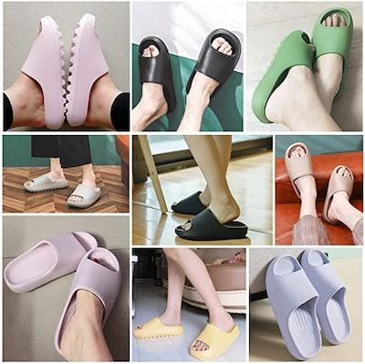 Litfun Platform Pillow Slide Sandals