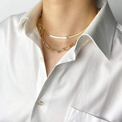 BaubleStar Gold Link Layered Necklace