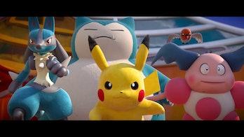 Pokémon Unite Lucario, Pikachu, Snorlax