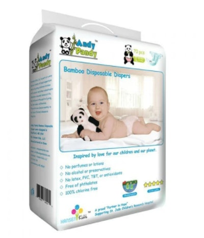 a pack of premium bamboo disposable diapers from Andy Pandy