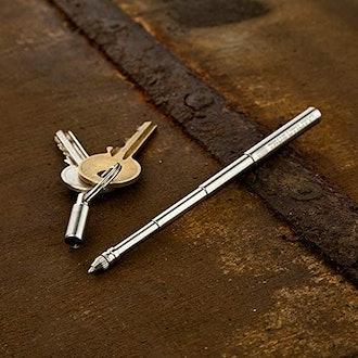 True Utility Stainless Steel Pen Keychain