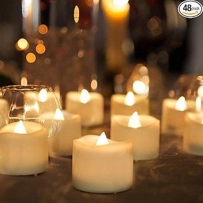 Homemory Flameless LED Tea Lights (48-Pack)