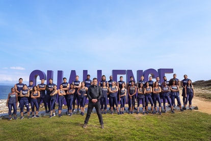 """The cast of MTV's """"The Challenge: Spies, Lies & Allies"""" pose together for a photo."""