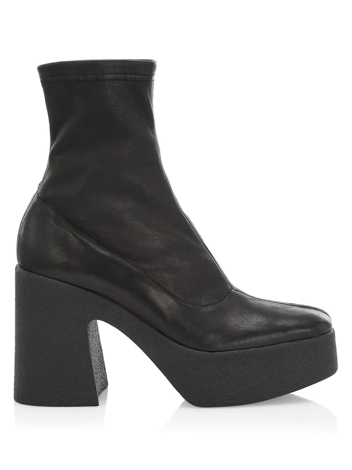 Empire Leather Platform Boots