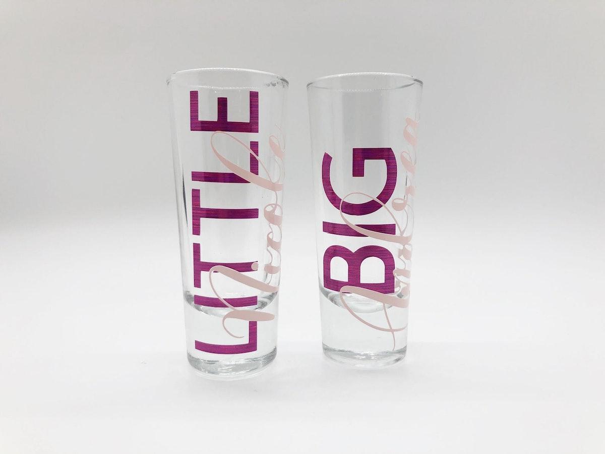 Big And Little Sorority Shot Glasses