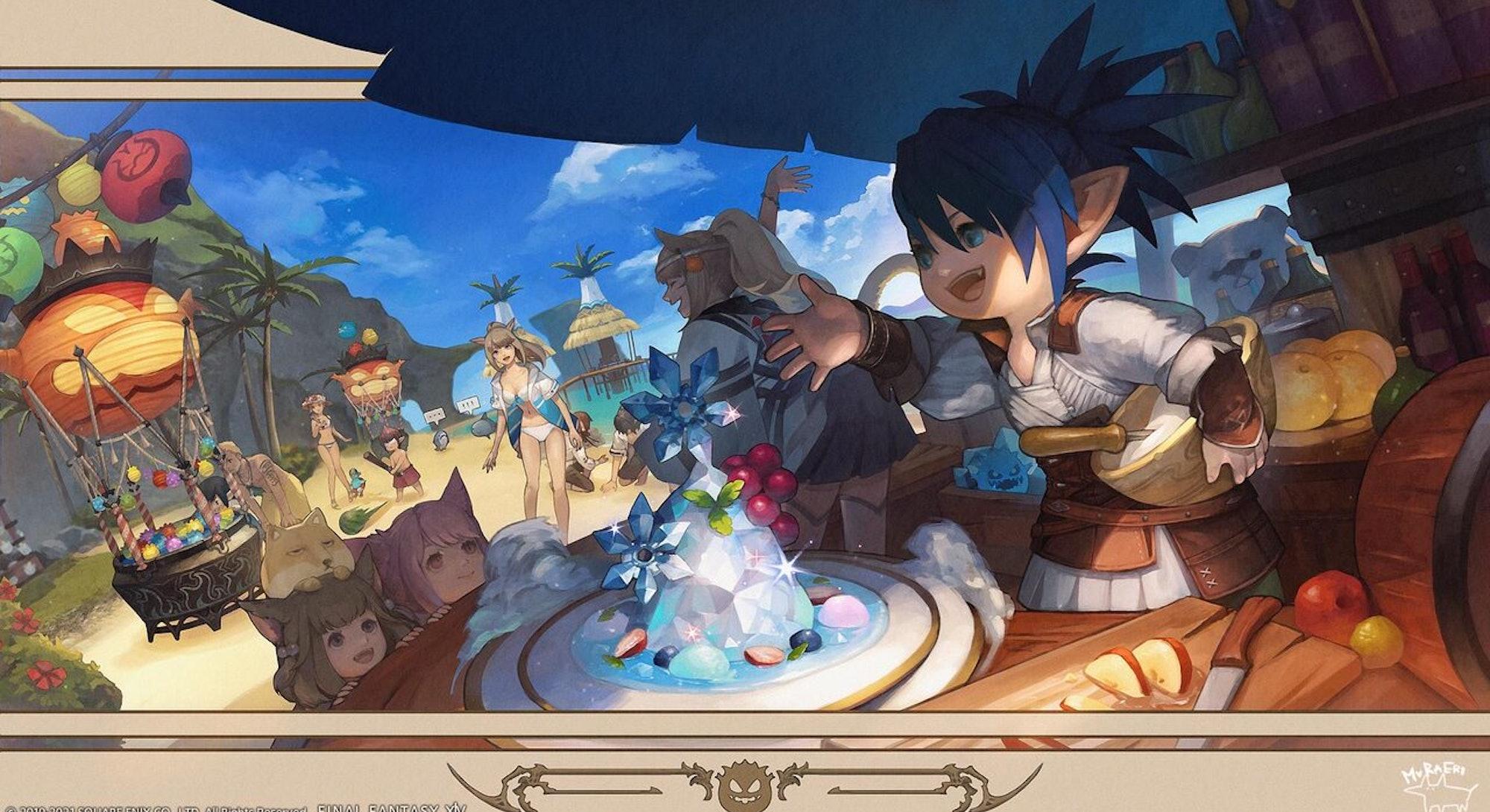 splash art from Final Fantasy 14 Moonfire Faire 2021