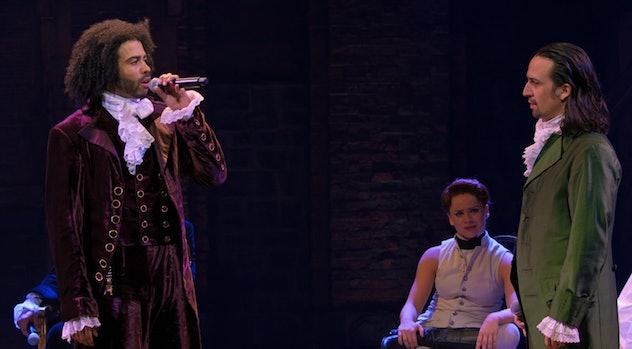 Daveed Diggs and Lin-Manuel Miranda as Thomas Jefferson and Alexander Hamilton