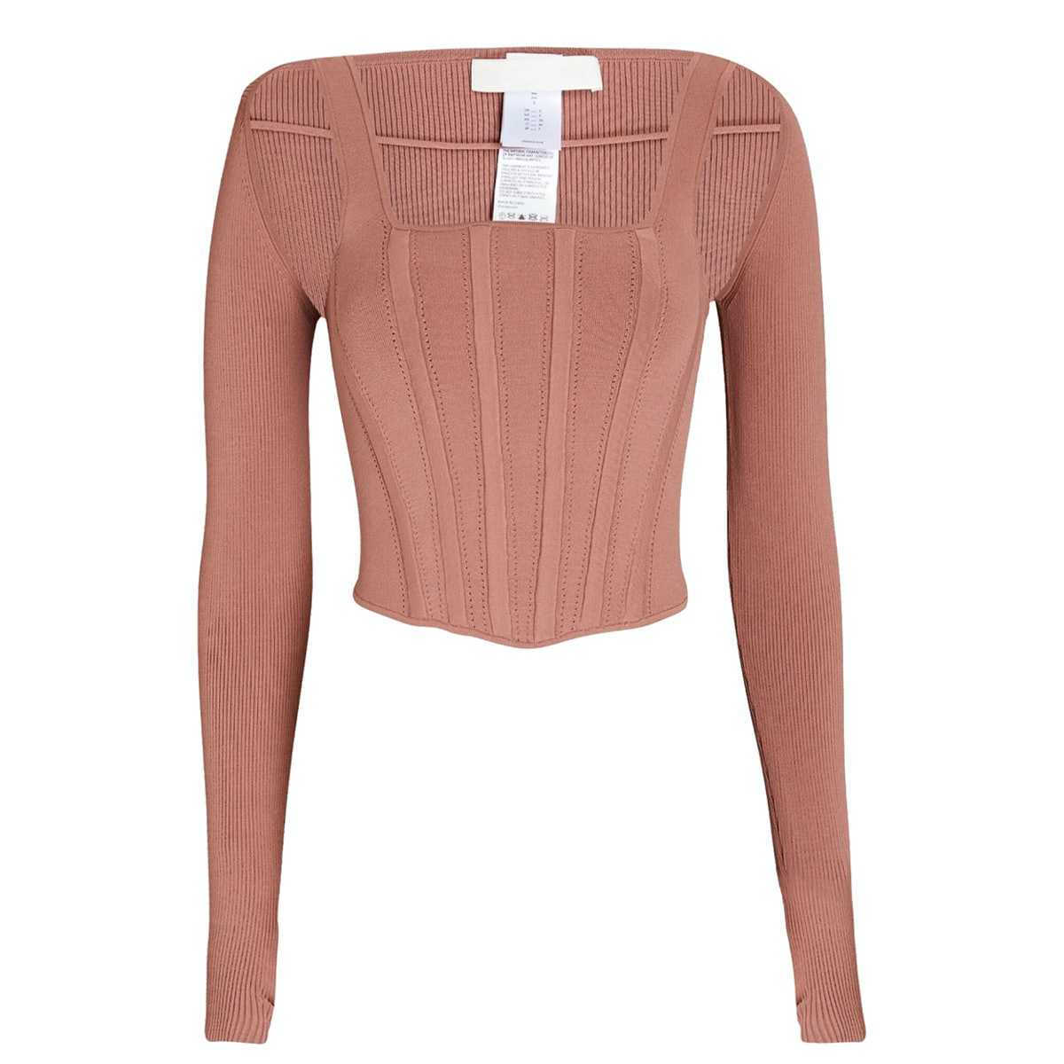 Dion Lee Pointelle Layered Jersey Corset Top