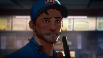 Peter Quill working at a Dairy Queen at the end of What If? Episode 2