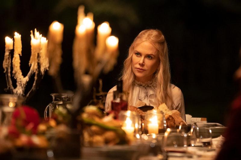 "Masha (Nicole Kidman) reveals the ""new protocols"" to guests in 'Nine Perfect Strangers.'"