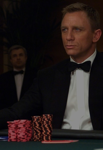 Daniel Craig as James Bond at poker table from Casino Royale