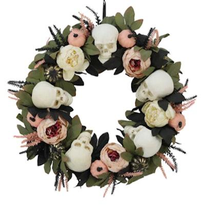 """24"""" Flower & Skull Wreath by Ashland®"""