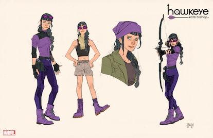 Kate Bishop's sketches