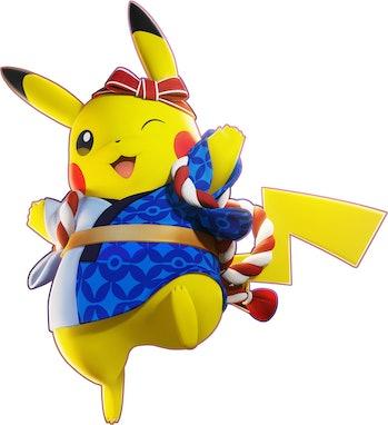pokemon unite pikachu holowear