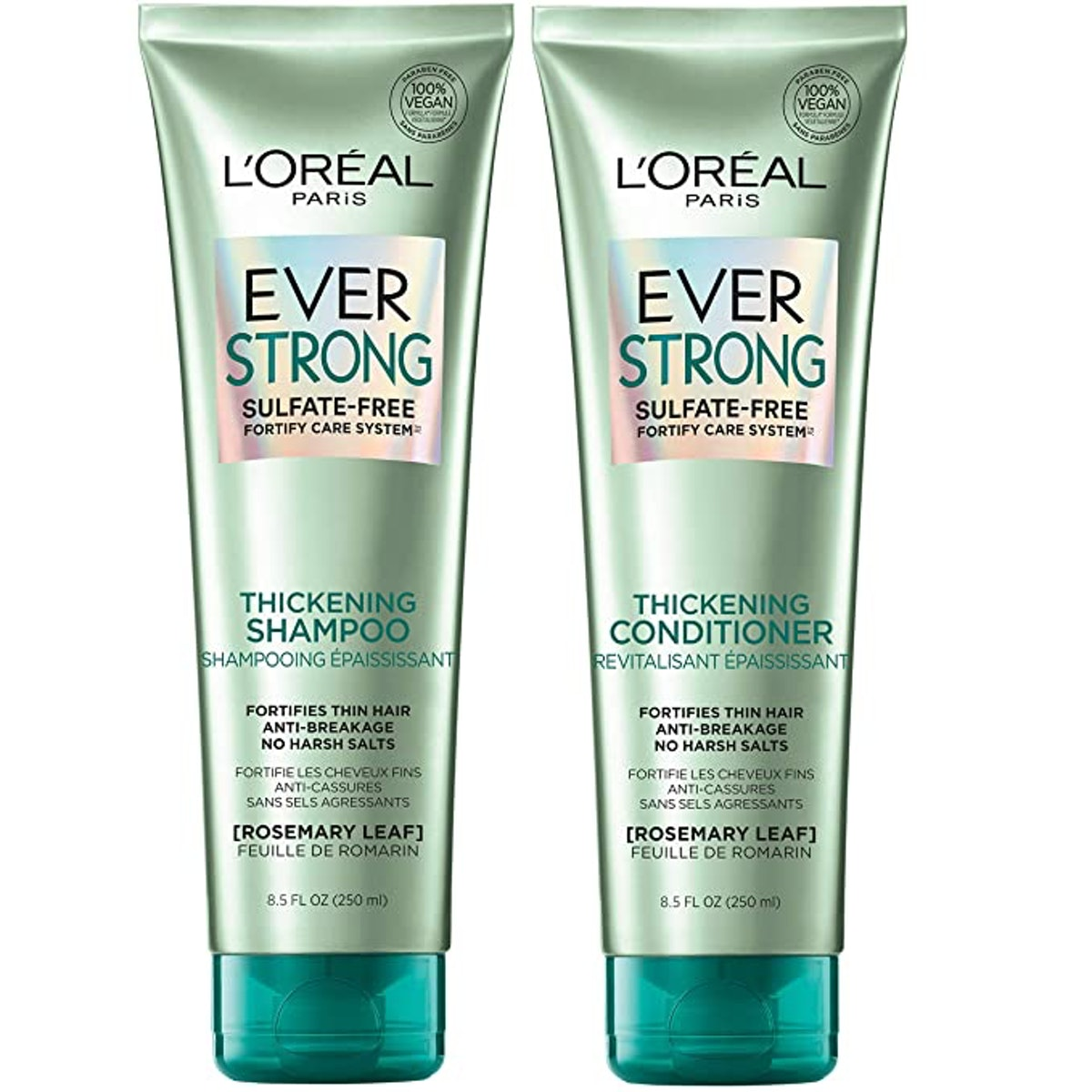 L'Oreal Paris EverStrong Thickening Sulfate Free Shampoo and Conditioner Kit