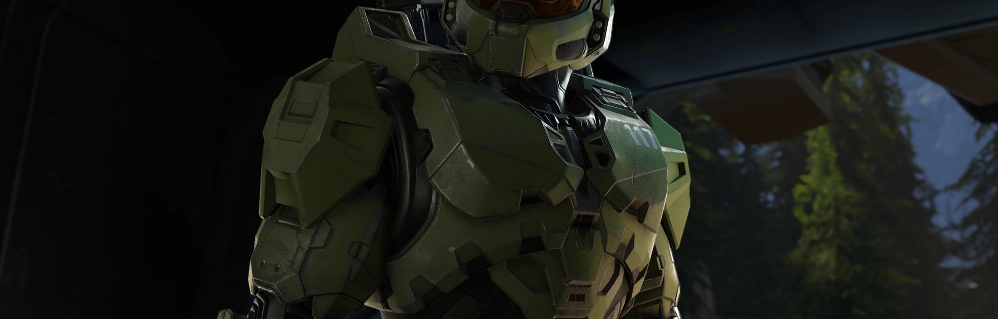 An early 4k screenshot of the Master Chief in Halo Infinite