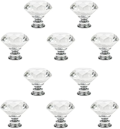 PAPRMA Crystal Glass Cabinet Knobs