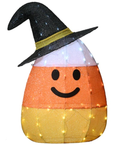 """35"""" Pre-Lit Candy Corn Witch"""
