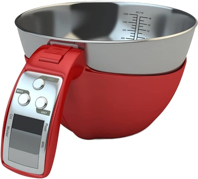 Fradel Digital Kitchen Food Scale with Bowl