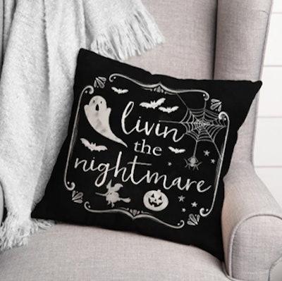Livin' The Nightmare Throw Pillow