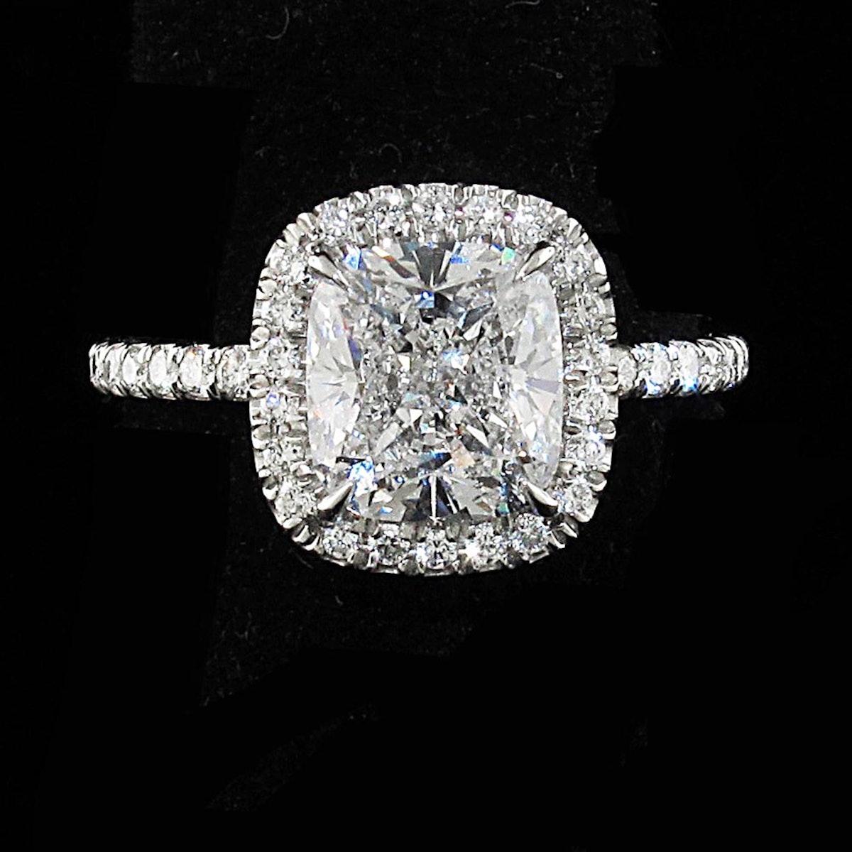 2.13 Carat Diamond Engagement Ring from Kantor Gems.