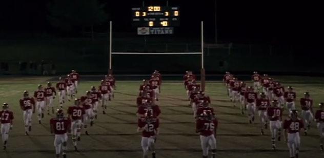 Denzel Washington stars in the film, Remember the Titans.