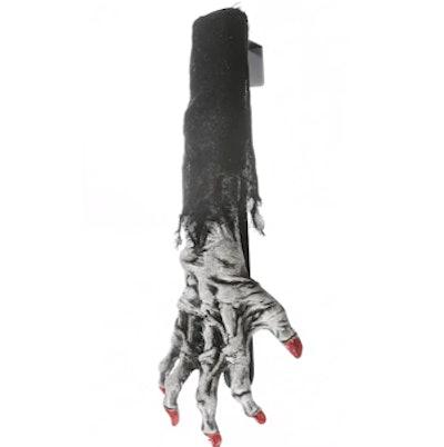 "18"" White Zombie Hand Wreath Hanger"