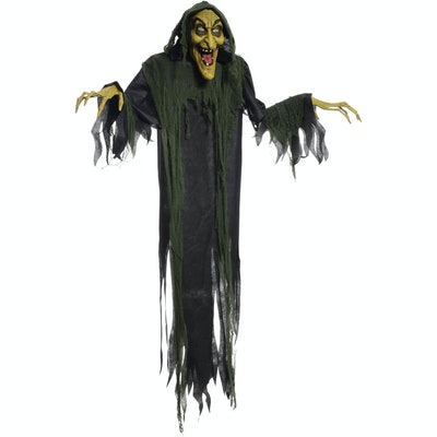"""Hanging Witch 72"""" Animated Halloween Decoration"""