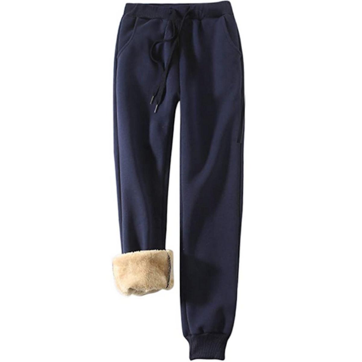 Yeokou Sherpa Lined Jogger Sweatpants