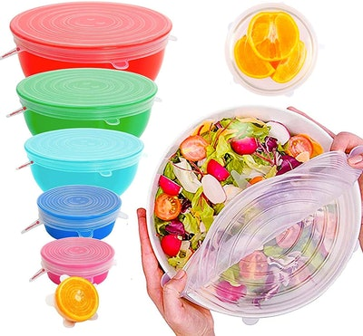 ExcelGadgets Silicone Stretch Lids (6-Pack)