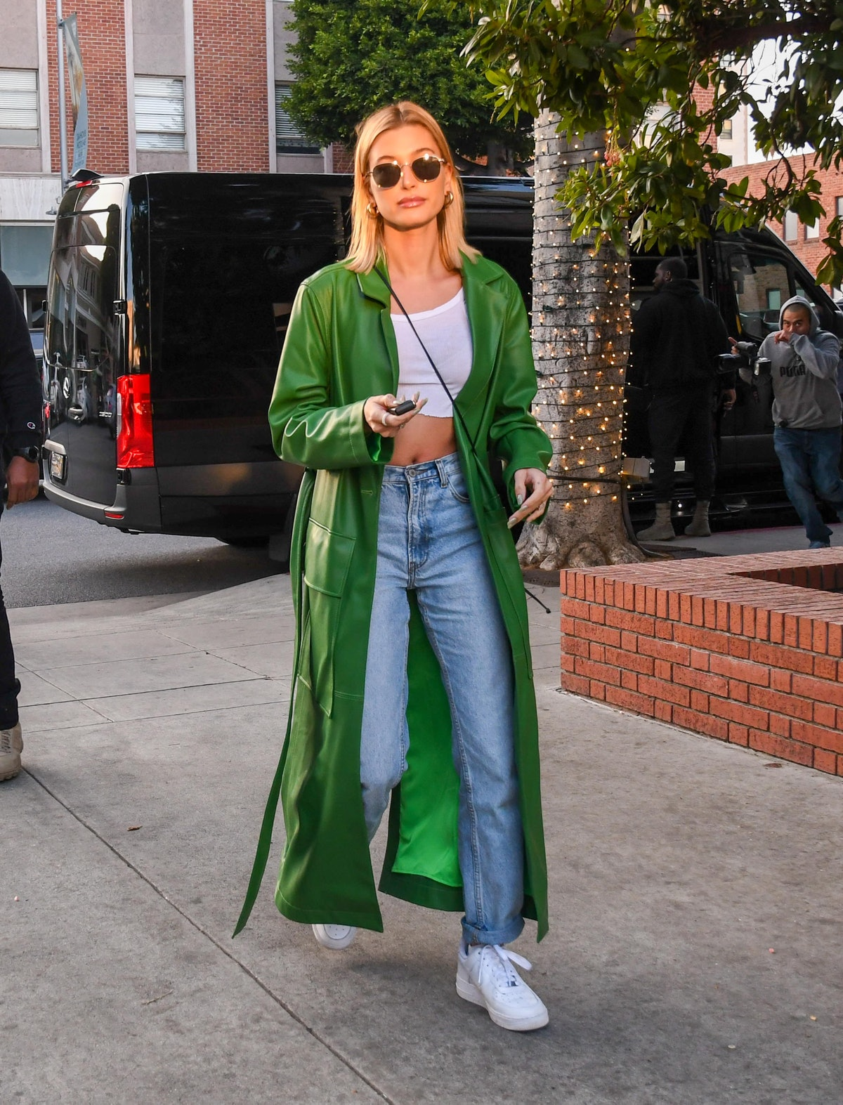 Hailey Rhode Bieber is seen on February 18, 2020 in Los Angeles, California.