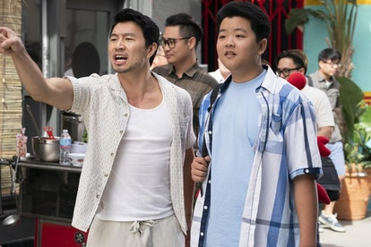 Actors Simu Liu and Hudson Yang during the 100th episode of ABC's 'Fresh Off the Boat.'