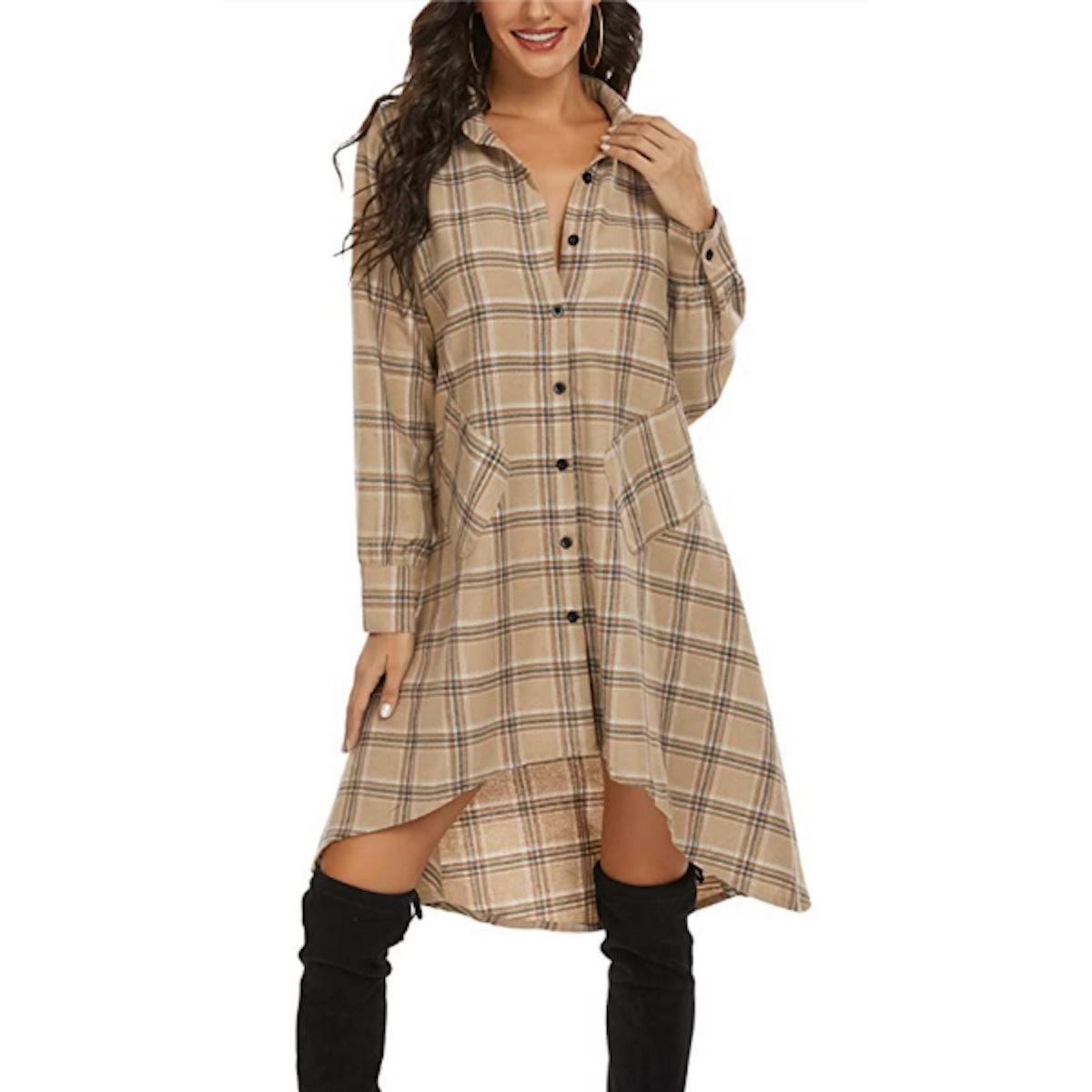 OLRAIN Shirt Dress