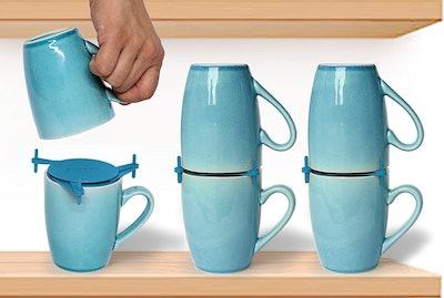 ELYPRO Coffee Mug Organizers and Storage (6-Pack)