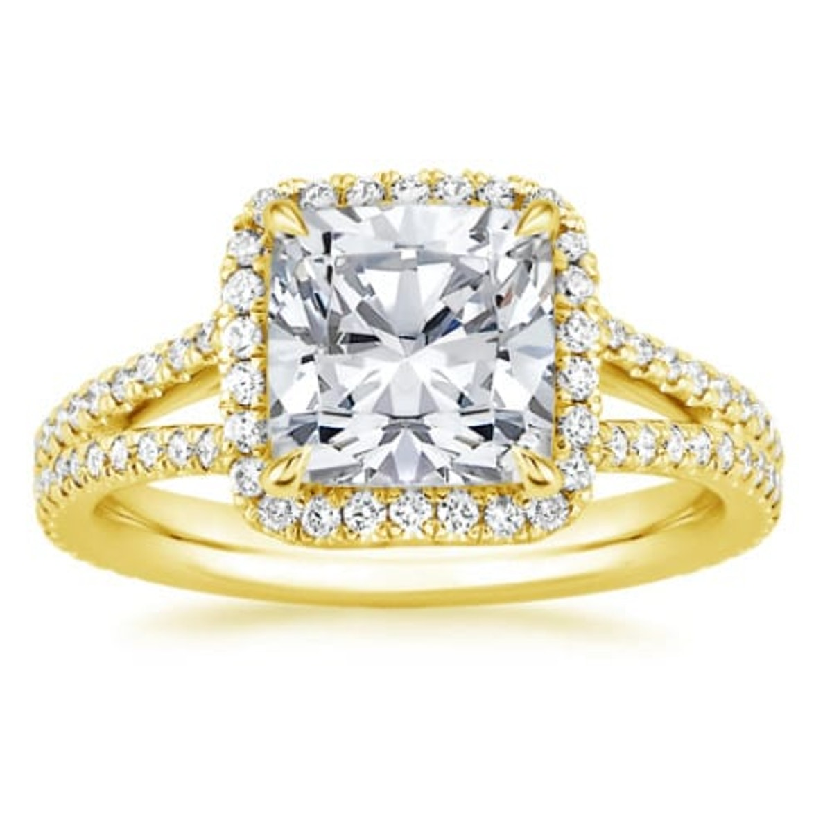 Fortuna Diamond Engagement Ring in 18K Gold from Brilliant Earth.