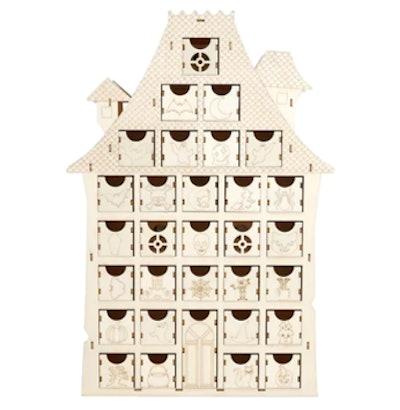 "15"" LED Wood House Calendar"
