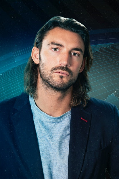 """""""The Challenge: Spies, Lies & Allies"""" cast member Logan Sampedro poses for a promotional photo."""