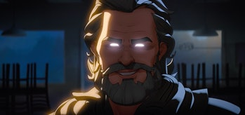 Ego (Kurt Russell) making his ominous What If...? debut