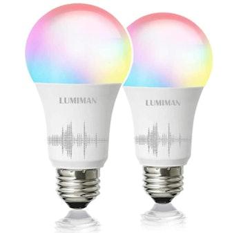 LUMIMAN Smart Light Bulbs (2 Pack)